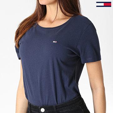 Tommy Jeans - Tee Shirt Femme Soft Jersey 6901 Bleu Marine