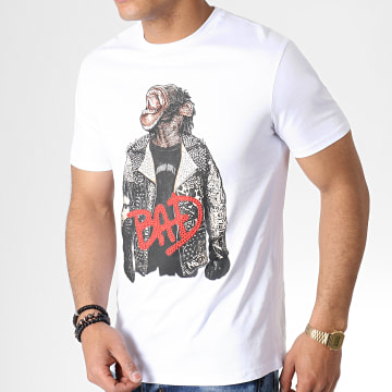 Tee Shirt A Strass UY400 Blanc