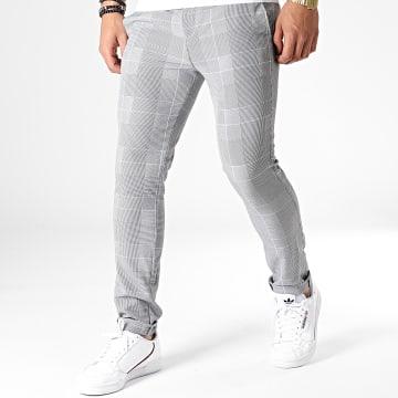 Uniplay - Pantalon Chino A Carreaux 5027 Noir Blanc