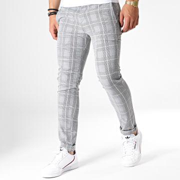 Uniplay - Pantalon Chino A Carreaux 5027 Gris Noir Blanc