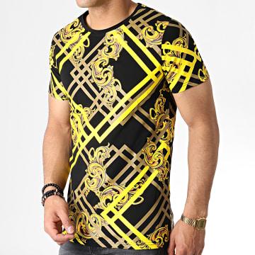 Tee Shirt R-89088 Noir Jaune Marron