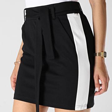 Jupe Femme A Bandes Poptrash Easy Belt Noir Blanc