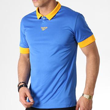 Reebok - Tee Shirt De Sport Classic Football FI2884 Bleu Roi Jaune
