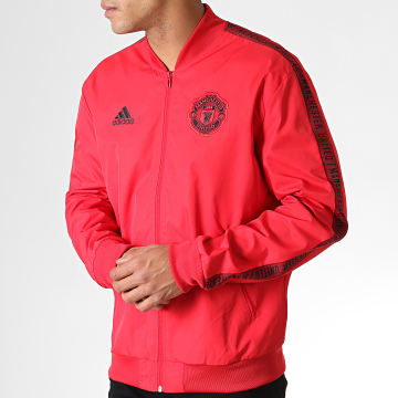Adidas Performance - Veste Zippée Anthem Manchester United DX9077 Rouge Noir