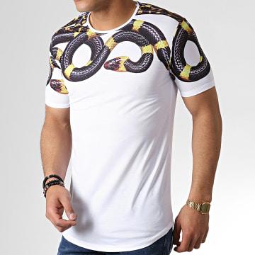 Ikao - Tee Shirt Oversize Serpent F538 Blanc