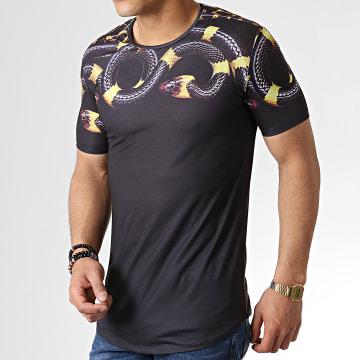 Ikao - Tee Shirt Oversize Serpent F538 Noir