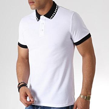 Polo Manches Courtes AP7239 Blanc Noir