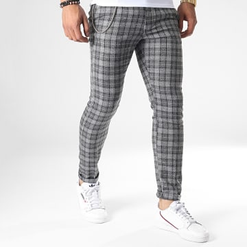 Ikao - Pantalon Carreaux F574 Gris