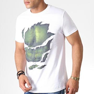 Tee Shirt Hulk MEAVENMTS004 Blanc Vert