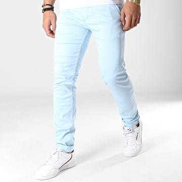 Black Needle - Pantalon Chino 1011 Bleu Clair
