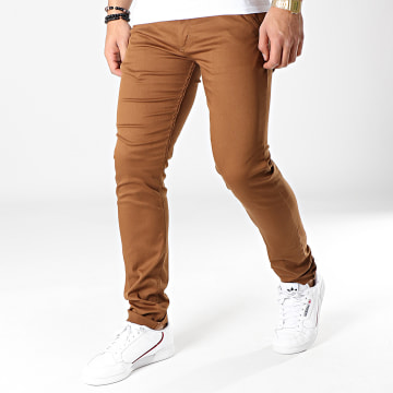 Black Needle - Pantalon Chino 1011 Marron