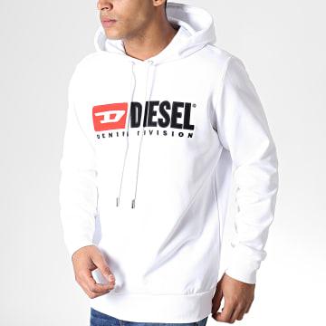 Diesel - Sweat Capuche Oversize S-Gir-Hood-Division 00S2JD-0IAJH Blanc
