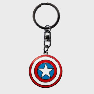 Captain America - Porte Clés ABYKEY165 Rouge Bleu Blanc Métal