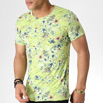 MTX - Tee Shirt TM0182 Vert Clair Floral