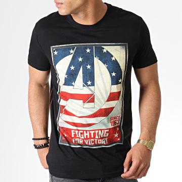 Tee Shirt Avengers For Victory Noir