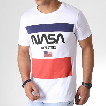 NASA - Tee Shirt Square Blanc