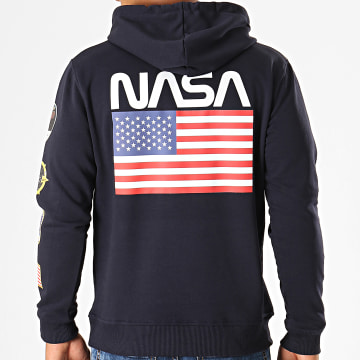 NASA - Sweat Capuche Giga Back Bleu Marine