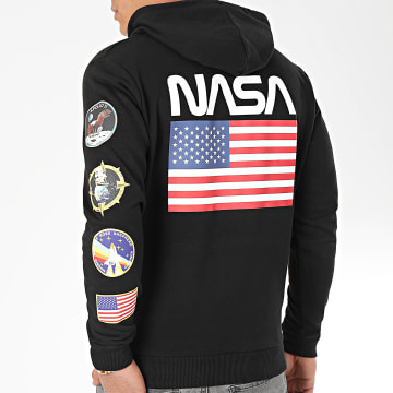 NASA - Sweat Capuche Giga Back Noir
