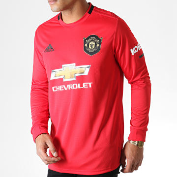 Maillot De Foot Manches Longues Manchester United Home DX8954 Rouge