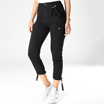 Pantalon Cargo Femme 166-D Noir