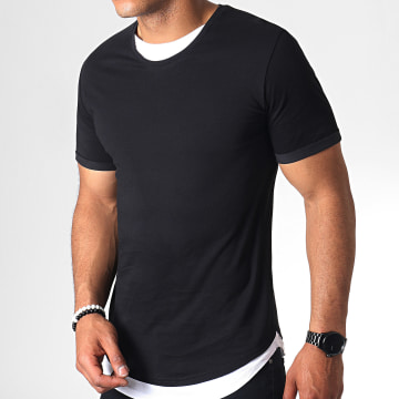Tee Shirt Oversize Double Col 769 Noir