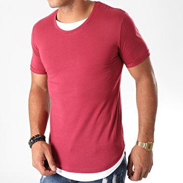 Tee Shirt Oversize Double Col 770 Bordeaux