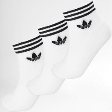 Adidas Originals - Lot De 3 Paires De Chaussettes EE1152 Blanc