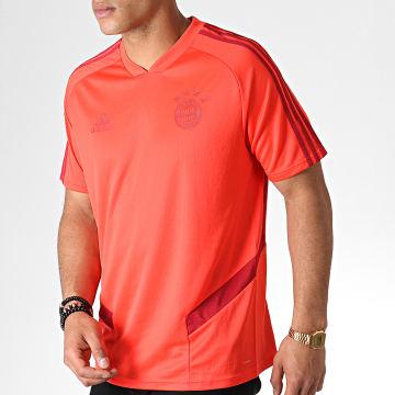 Adidas Performance - Tee Shirt De Sport Avec Bandes FC Bayern DX9154 Rouge Bordeaux