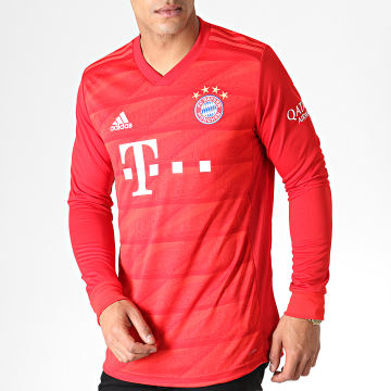Maillot De Foot Manches Longues FC Bayern DX9250 Rouge