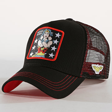 Casquette Trucker Wonder Woman Noir Rouge