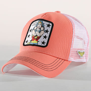 Casquette Trucker Wonder Woman Rose Blanc