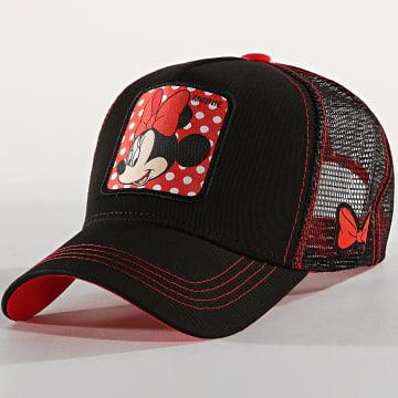 Casquette Trucker Minnie Noir Rouge