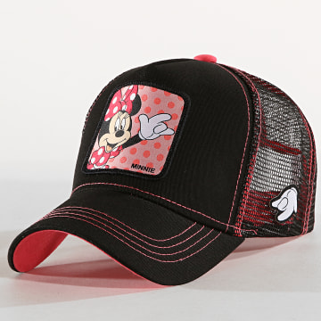 Capslab - Casquette Trucker Minnie Noir Rose
