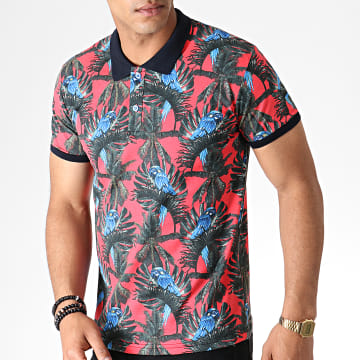 Polo Manches Courtes 5008 Rouge Floral