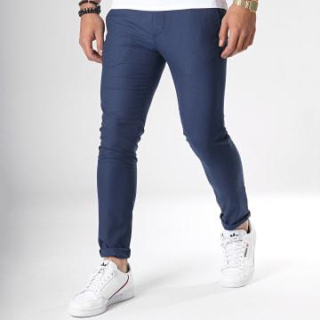 Mackten - Pantalon Chino 28051 Bleu Marine