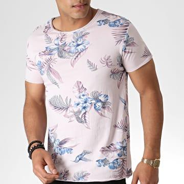MTX - Tee Shirt Floral TM0205 Rose Bleu