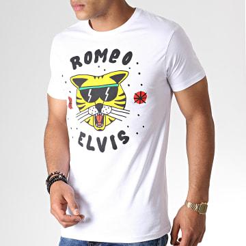 Roméo Elvis - Tee Shirt Chat Blanc