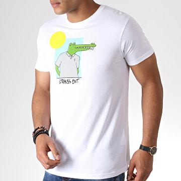 Roméo Elvis - Tee Shirt Croco Soleil Blanc