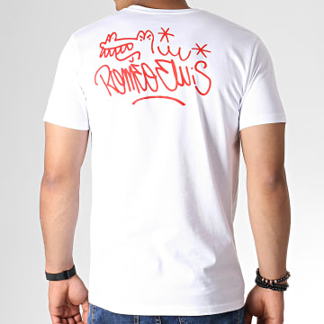 Roméo Elvis - Tee Shirt Tag Blanc Rouge Noir