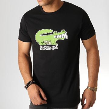 Roméo Elvis - Tee Shirt Croco Noir Vert