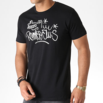 Roméo Elvis - Tee Shirt Tag Noir Blanc