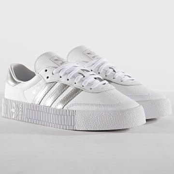 Adidas Originals - Baskets Femme Sambarose EE9017 Footwear White Silver Metal Core Black