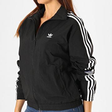 Adidas Originals - Veste Zippée Femme A Bandes Lock Up ED7538 Noir Blanc