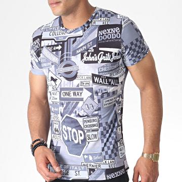 John H - Tee Shirt A040 Gris
