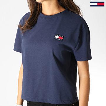 Tee Shirt Femme Badge 6813 Bleu Marine