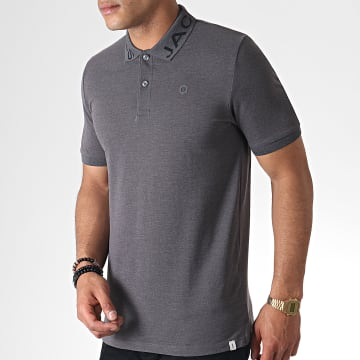 Polo Manches Courtes Nick Gris Anthracite