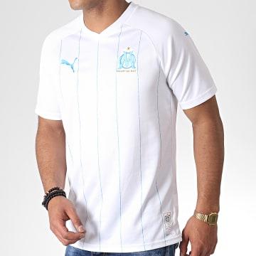 Maillot De Football OM Home Replica 755673 Blanc Bleu Clair