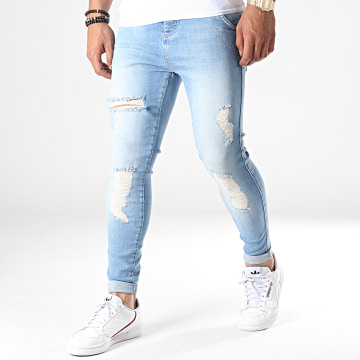 Jean Skinny Distressed 14005 Bleu Wash