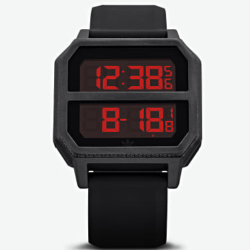 Montre Archive R2 Z16760 All Black Red