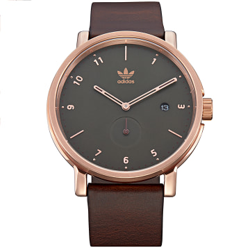 Montre District LX2 Z123038 Rose Gold Olive Brown